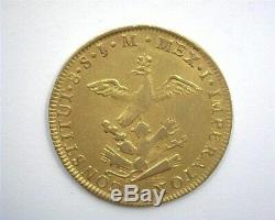 Mexico 1822-mojm Gold 8 Escudos Extremely Fine Rare