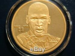 Michael Jordan 1 oz 999 Fine Gold Coin #31 of 100 RARE Highland Mint &Upper Deck