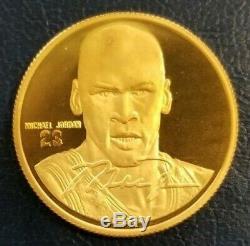Michael Jordan 1995 Upper Deck. 999 Fine GOLD Coin #22 & Info Card Highland Mint