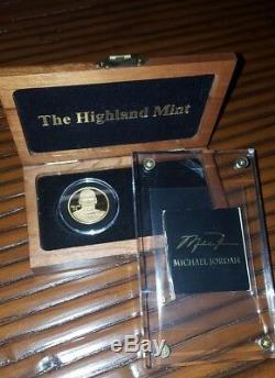 Michael Jordan 1oz. 999 Fine Gold Upperdeck SP#10 Only 100 (EXIST) Highland Mint