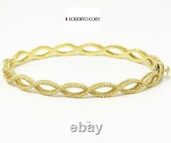 NYJEWEL Roberto Coin Barocco 18k Yellow Gold Braided Bangle Bracelet