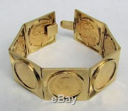 Outstanding 18k Gold Bracelet & 22k British Sovereign Coins