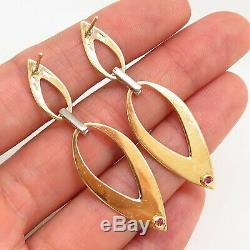 ROBERTO COIN Italy 750/18K Yellow Gold with Genuine Diamond Designer Drop Earrings