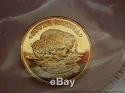 Rare 1988 South Dakota Bison 11mm Fine. 999 Gold Coin One One Tenth Ounce 1/10oz