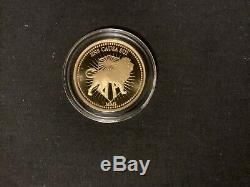 Rare JOHN WICK. 9999 Fine Proof 1oz Gold Coin. Continental Currency withBox & COA