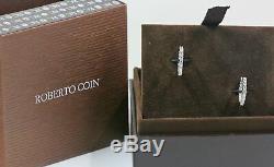 Roberto Coin 1 CT TW Diamond Inside Outside Hoop Earrings in18K White Gold-5/8