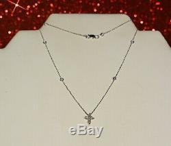 Roberto Coin 18K Gold Diamonds By The Yard Red Ruby Cross Pendant Necklace