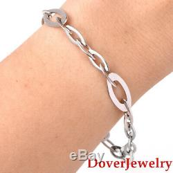 Roberto Coin 18K White Gold Chic and Shine Targol Bracelet 10.6 Grams NR