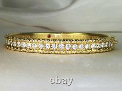 Roberto Coin 18k Gold Florentine Cento Diamond-2.90 tcw Bangle Bracelet-7