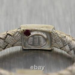 Roberto Coin 18k White Gold Diamond Primavera Woven Band Ring