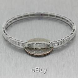Roberto Coin 18k White Gold Symphony Barocco Bangle Bracelet