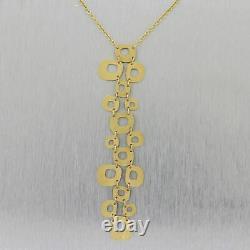 Roberto Coin 18k Yellow Gold Circle Dangle Pendant 15 Necklace