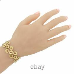 Roberto Coin 18k Yellow Gold Long Circle Drop Bracelet