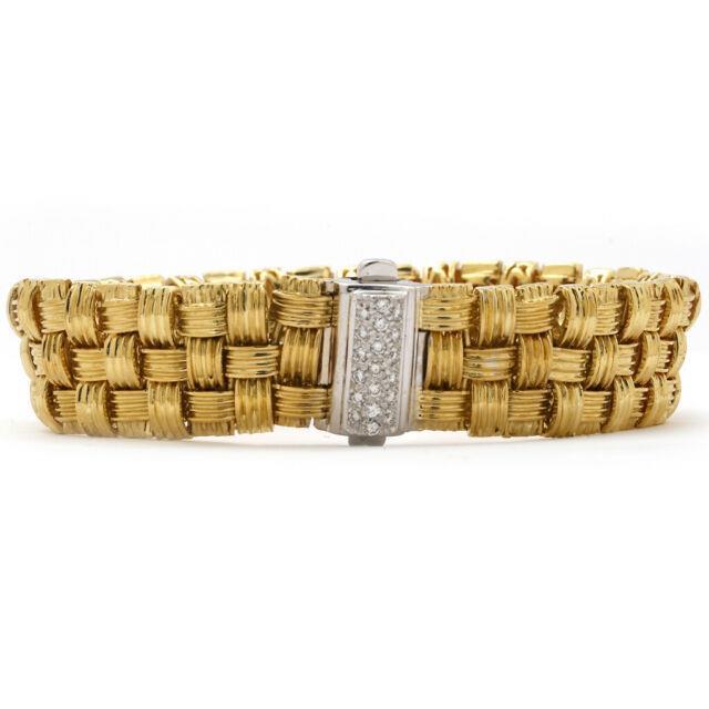 Roberto Coin Appasionista Bracelet 18k Yellow Gold 7 Inch Msrp $9200