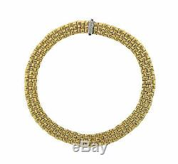 Roberto Coin Appassionata Necklace 18K Yellow Gold with Diamonds 16 Inches withBox