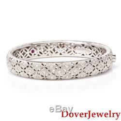 Roberto Coin Diamond 18K Gold Granada Bangle Bracelet 40.0 Grams $10500 NR
