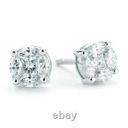 Roberto Coin Diamond 18K White Gold Magic Earrings 0.65CT MSRP $3200