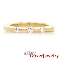 Roberto Coin Diamond 18K Yellow Gold Band Ring 5.2 Grams NR