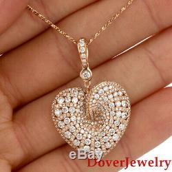 Roberto Coin Fantasia Diamond 18K Gold Cluster Heart Pendant 5.3 Grams $9,700 NR