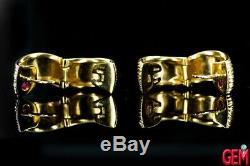 Roberto Coin Fine Elephant Skin Huggies 18K 750 Yellow Gold Small Hoop Earrings
