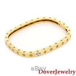 Roberto Coin Pois Moi Diamond 18K Gold One Row Bracelet $4300.00 19.6 Grams NR