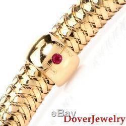 Roberto Coin Primavera Ruby 18K Yellow Gold Bangle Bracelet 13.0 Grams
