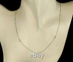 Roberto Coin Ruby Signed Natural Diamond 18k White Gold Five Station Necklace