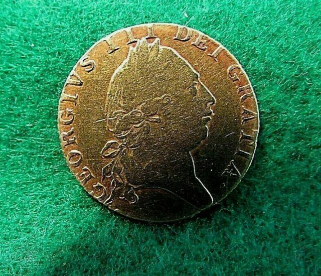 Scarce Great Britain George Iii Guinea 1790 Gold Coin Fine Condition Km#609