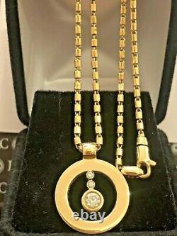 Signed Roberto Coin Cento Diamond 18k Gold O Pendant Chain Box ITALY APPRAISAL