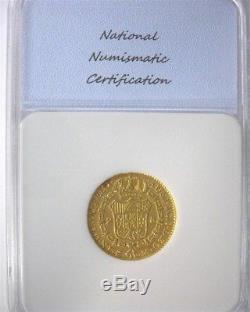 Spain 1788-m Gold 2 Escudos Choice Extremely Fine Scarce