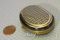 Superb 19c antique French Brevete PIQUE GOLD SILVER INLAY COIN CHANGE PURSE fine