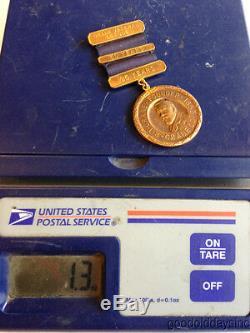 Tiffany 14kt Gold Medal Coin Crane. Co Crane Verteran League 30 Years of Service