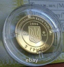 UKRAINE 2006 1/25 Oz Fine Gold Proof Coin Hedgehog Fauna Wildlife WWF Red Book