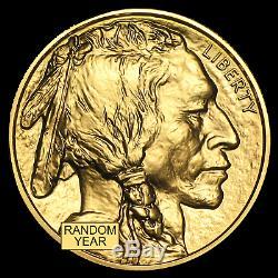 US Mint 1 oz Gold American Buffalo Random Date $50 Gold Coin. 9999 Fine BU