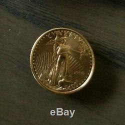 US Mint 1999 1/10 Ounce Fine Gold Eagle 5 Dollar Coin