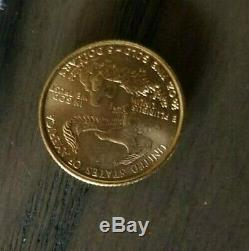 US Mint 1999 1/10 Ounce Fine Gold Eagle 5 Dollar Coin clean