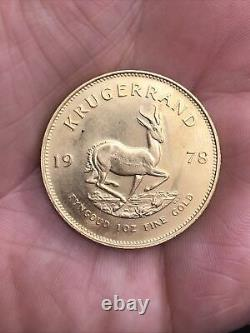 Vintage 1978 South Africa Krugerrand Gold Coin 1 Oz Fine Bullion