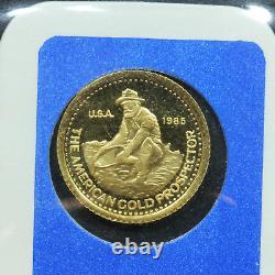Vintage 1985 Engelhard Gold 1/10th oz. 9999 Fine Gold Prospector Coin