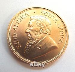 Vintage 1oz FINE GOLD Fyngoud South Africa KRUGERRAND Coin Dated 1974 G12