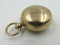 Vintage 9ct. Gold Sovereign Coin Case Holder (Some Damage)
