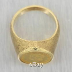 Vintage Estate 14k Yellow Gold $1 1852 Gold Coin Ring