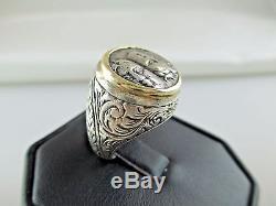 Vintage GREEK ISTROS COIN 14K Gold Sterling Silver Ring Men's 400-350BC 469C