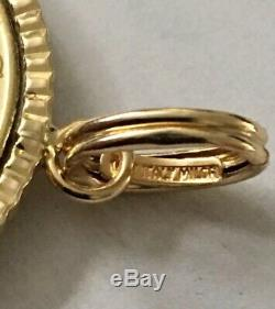 Vintage Milford Italian 14k SOLID Gold 200 Lire Coin CHARM / PENDANT