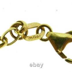 Vintage Milor Italy Coin Lire European 14k Yellow Gold Chain Necklace