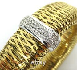 Vintage Roberto Coin Extra Large Primavera Bracelet With 54 Diamonds