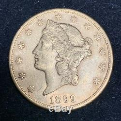 XF 1899-P $20 Liberty Double Eagle Eagle Twenty Dollars old Extra Fine gold coin